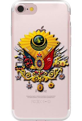 Remeto Apple iPhone 6 Osmanlı Devlet Arması Resimli Şeffaf Silikon Kılıf