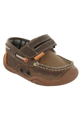 Pediped Gg1760-Br-Naples-Brown Leather Boat Shoe Çocuk Ayakkabı