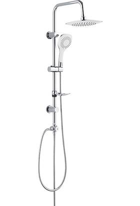 RST® Mannesmann Sürgülü Tepe Duş Seti - Rain Bianco