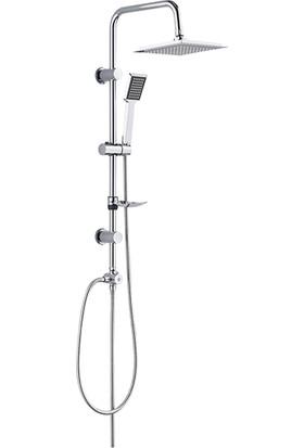 RST® Mannesmann Sürgülü Tepe Duş Seti - Rain Krom