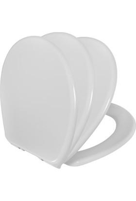 RST® Mannesmann Duroplast Klozet Kapağı - Soft - Yavaş Kapanma Özelliği - Üstten Soft Menteşe