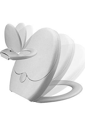 RST® Mannesmann Thermoplast Klozet Kapağı - Generations - Çocuk Ve Yetişkin Özel - Yavaş Kapanma Özelliği