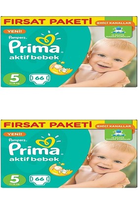 Prima Bebek Bezi Aktif Bebek Hiper Ekonomik Junior 5 Beden 132 Adet