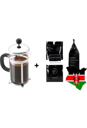 Caffe Rino Kenya Yöresel Filtre Kahve 250 gr + French Press