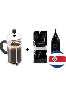 Caffe Rino Kosta Rika Yöresel Filtre Kahve 250 gr + French Press