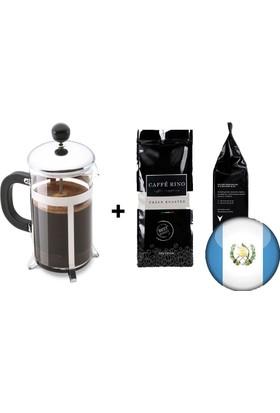 Caffe Rino Guatemala Yöresel Filtre Kahve 250 gr + French Press