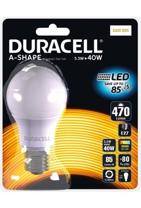 Duracell Led Ampul A60-E27 5,5W (40 Watt ) Sarı Işık