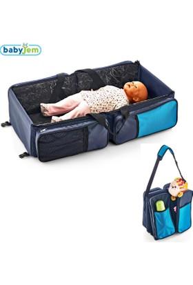 Baby Jem Baby Jem Katlanır Pratik Seyahat Yatağı Laci