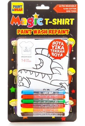 Paint&Wear Dinozor Ailesi Boyama T-Shirt 7-8