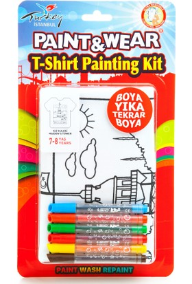 Paint&Wear Kız Kulesi Boyama T-Shirt 7-8
