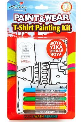 Paint&Wear Galata Kulesi Boyama T-Shirt 7-8