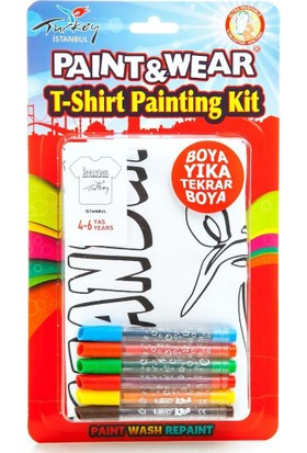 Paint&Wear İstanbul Boyama T-Shirt 9-11