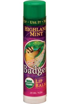 Badger Lip Balm Highland Mint Naneli Dudak Balmı