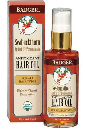 Badger Seabuckthorn Haır Oıl Tüm Saç Tipleri İçin Saç Yağı 59.1 Ml