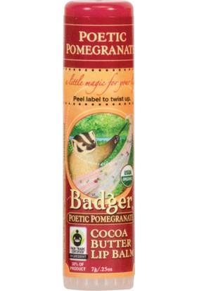 Badger Poetıc Pomegranate Cocoa Butter Lıp Balm Narlı Ve Kakaolu Dudak Balmı 7Gr