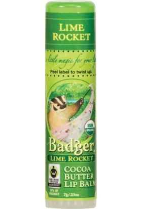 Badger Lıme Rocket Cocoa Butter Lıp Balm Lıme (Yeşıl Lımon) Ve Kakaolu Dudak Balmı 7Gr