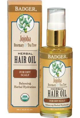 Badger Jojoba Herbal Haır Oıl Kuru Saç Derisi İçin Saç Yağı 59.1 Ml