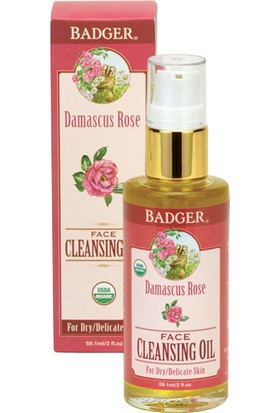Badger Damascus Rose Face Cleansıng Oıl 59.1MlYüz Temizleyici Yağ (Makyajı Çıkarır)