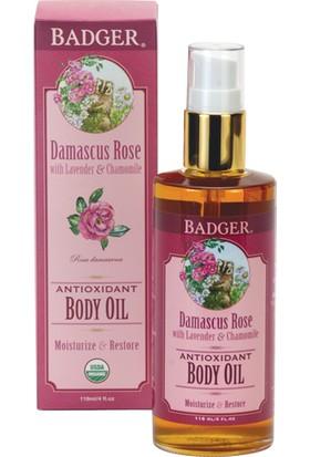 Badger Damascus Rose Body Oıl Nemlendirici Vücut Gül Yağı 118Ml