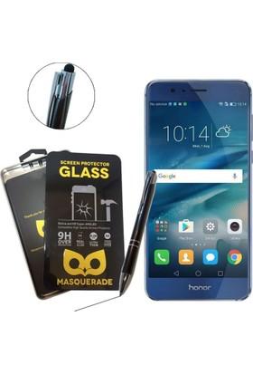 Case Man Masquerade Huawei Honor 8 9H Temperli Ekran Koruyucu