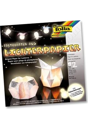 Folia Origami Fener Kağıdı 80 Gsm 30X30 Cm Beyaz 42300