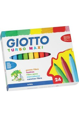 Giotto Turbo Maxi Keçeli Kalem 24'lü Kutu 455000