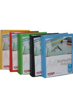 Midgo A4 Sunum Dosyası Önü Cepli 80'li Ng-80A