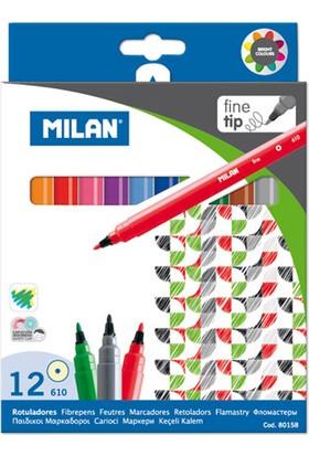 Milan Keçeli Kalem 12'li Kutu M80158