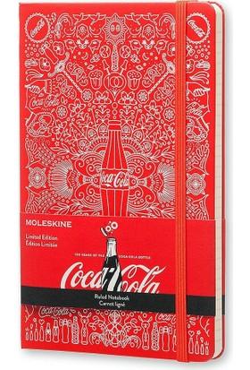 Moleskine Limited Edition Coca Cola Büyük Boy Sert Kapak Çizgili Defter