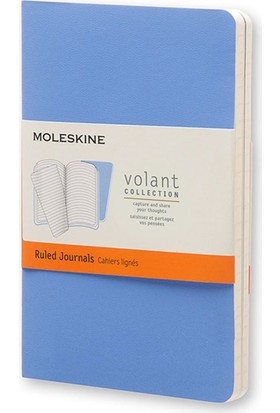 Moleskine Volant 2'li Cep Boy Yumuşak Kapak Çizgili Defter Mavi Qp711B12