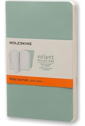 Moleskine Volant 2'li Cep Boy Yumuşak Kapak Çizgili Defter Yeşil Qp711K8