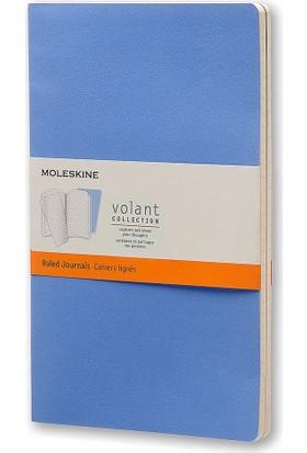 Moleskine Volant 2'li Büyük Boy Yumuşak Kapak Çizgili Defter Mavi Qp721B12B11F