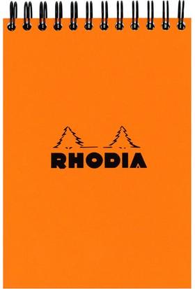 Rhodia Spiralli Çizgili Bloknot Turuncu Rt 16501