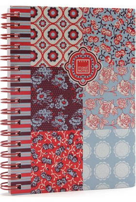 Makenotes Floral Quilt A5 Çizgili Defter Mn-Fq-A5