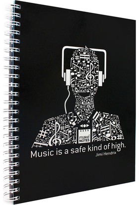 Makenotes Müzik A4 Defter Mn-Mot29-A4