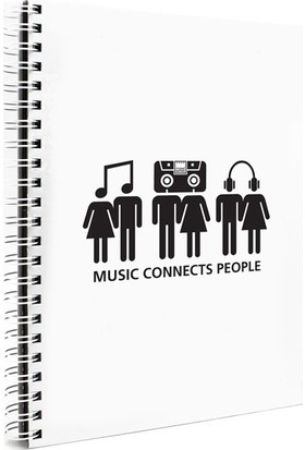 Makenotes Müzik A4 Not Defteri Mn-M