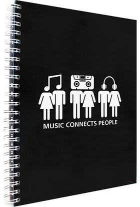 Makenotes Müzik A4 Not Defteri Mn-Mot30-A4