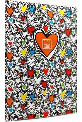 Makenotes Colorful Hearts A4 Not Defteri Mn-Mot40-A4Q