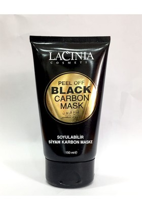 Lacınıa Soyulabilir Siyah Karbon Maske Black Carbon Mask 150 ml Aktarzane