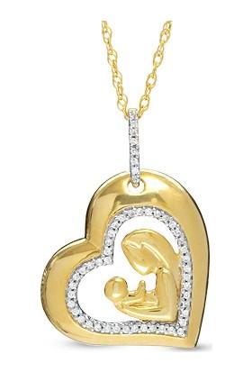 Sare Pırlanta Anneler Günü Özel Altın Pırlanta Kolye Spaagk-025