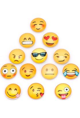 Mıknatıslı Buzdolabı Süsleri Emojiler-3 Adet