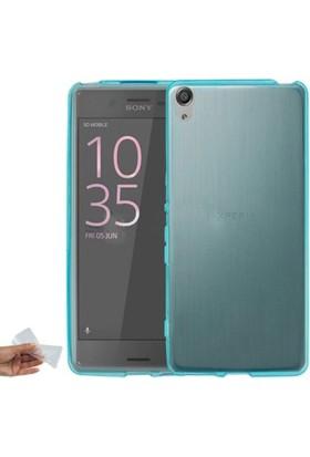 Case 4U Sony Xperia XA Kılıf Ultra İnce Silikon Mavi