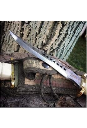 Halmak Beyaz Kurt Model Komando Ve Av Bıçağı