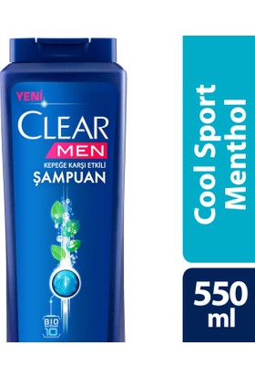 Clear Şampuan Cool Sport Menthol 550 ml