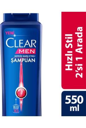Clear Şampuan Hızlı Stil 2 Si 1 Arada 550 ml