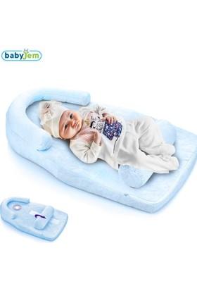 Baby Jem Reflu Ve Düz Kafa Yastığı Mavi