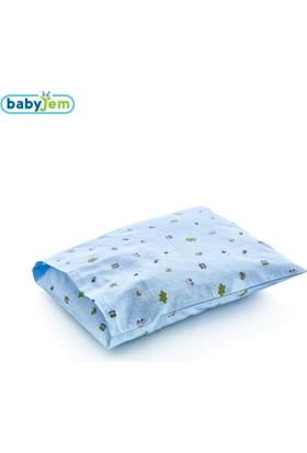 Baby Jem Yastık Kılıfı Mavi Arabalı