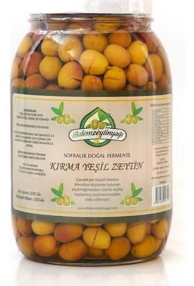 İlkdem Sofralık Doğal Fermente Kırma Yeşil Zeytin