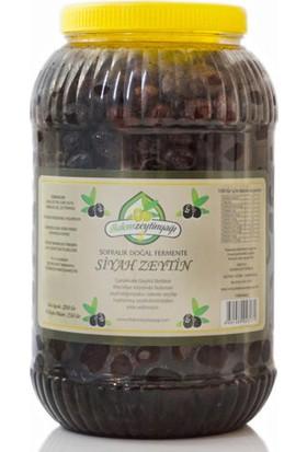 İlkdem Doğal Fermente Siyah Zeytin Net:2.550 Gr. Yağlık Edremit Tipi