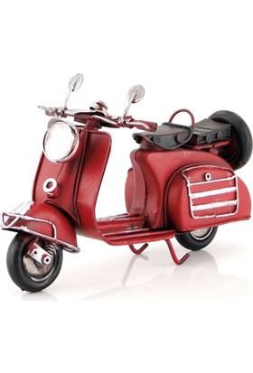 Mnk El Yapımı Eskitilmiş Metal Vintage Vespa Motorsiklet 2993SS